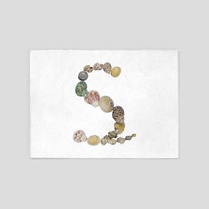 S Seashells 5'x7' Area Rug