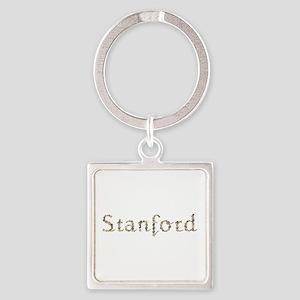 Stanford Seashells Square Keychain