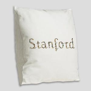 Stanford Seashells Burlap Throw Pillow