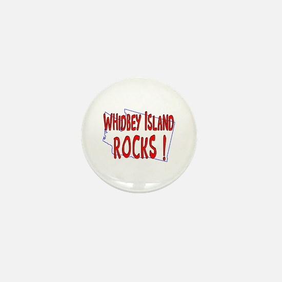 Whidbey Island Rocks ! Mini Button