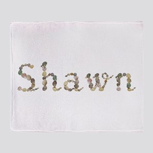 Shawn Seashells Throw Blanket