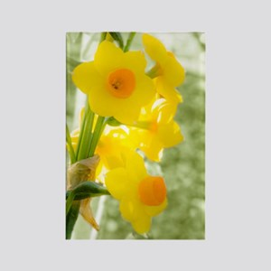 A Sprig of Yellow and Orange Jonq Rectangle Magnet