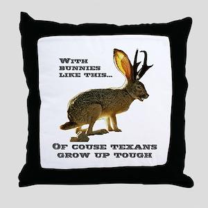 Texas Jackalope Throw Pillow