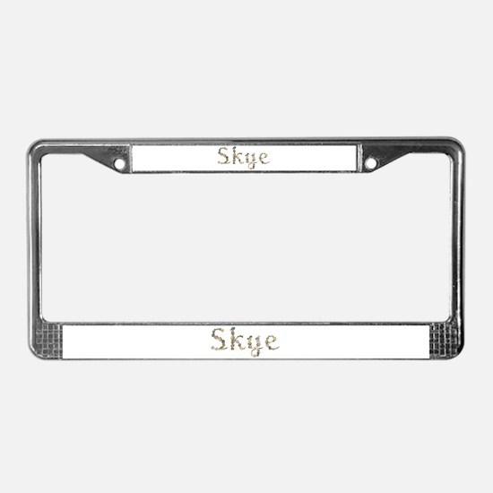 Skye Seashells License Plate Frame