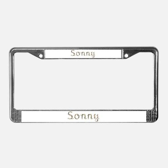 Sonny Seashells License Plate Frame
