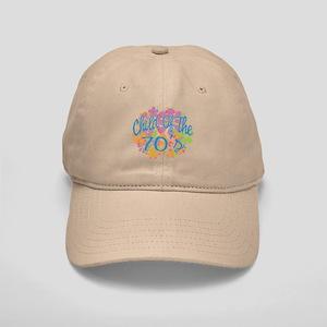 70's Seventies Child Retro Flower Cap
