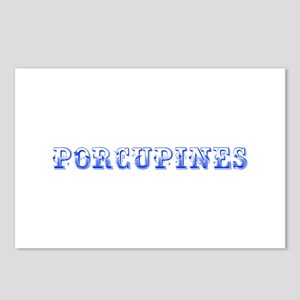 Porcupines-Max blue 400 Postcards (Package of 8)