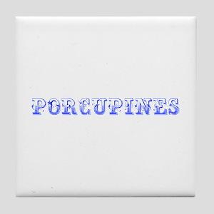 Porcupines-Max blue 400 Tile Coaster