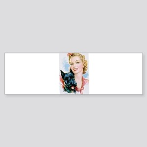 Beauty and Scottie Bumper Sticker