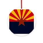 Arizona Flag Ornament (Round)