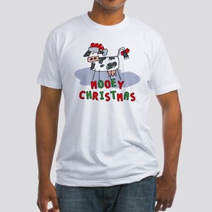 Mooey Christmas Fitted T-Shirt