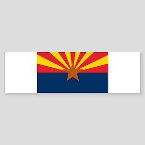 Arizona Flag Sticker (Bumper)