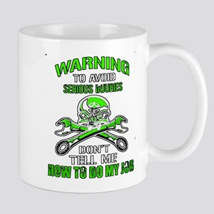 Mechanic Serious Injury Mugs