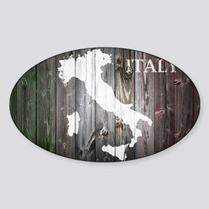 Italy Map Sticker (Oval)