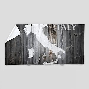 Italy Map Beach Towel