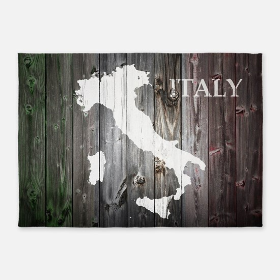 Italy Map 5'x7'Area Rug