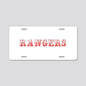 Rangers-Max red 400 Aluminum License Plate