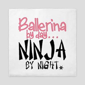 Ballerina By Day Ninja By Night Queen Duvet