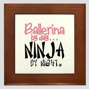 Ballerina By Day Ninja By Night Framed Tile