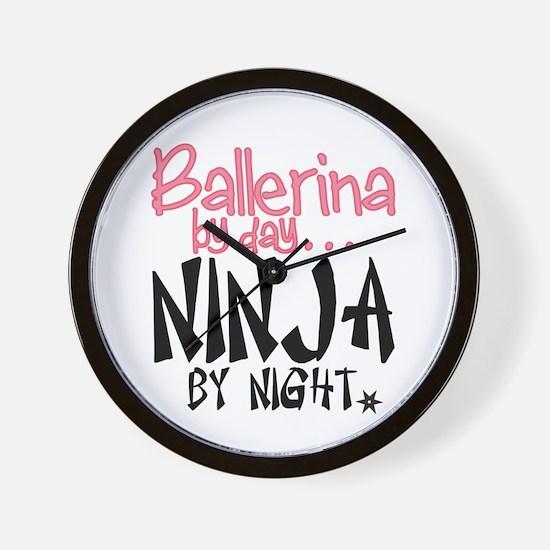 Ballerina By Day Ninja By Night Wall Clock