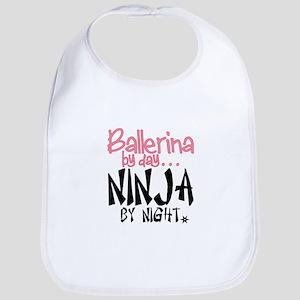 Ballerina By Day Ninja By Night Bib