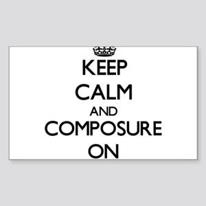 Keep Calm and Compositions ON Sticker