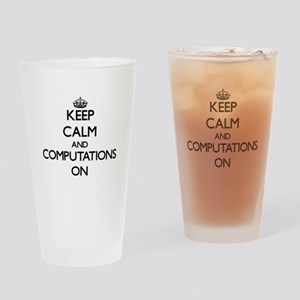 Keep Calm and Compulsion ON Drinking Glass