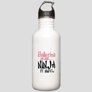 Ballerina by day...Ninja by night Water Bottle