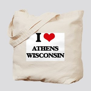 I love Athens Wisconsin Tote Bag