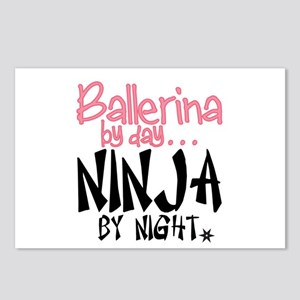 Ballerina by day...Ninja by night Postcards (Packa