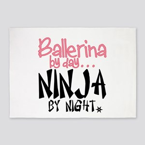 Ballerina by day...Ninja by night 5'x7'Area Rug