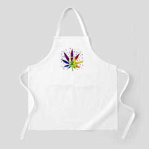 Rainbow Marijuana Libra Apron