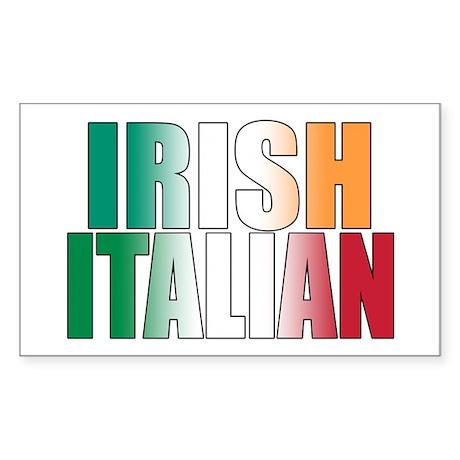 Irish Italian Rectangle Sticker