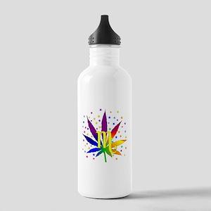 Rainbow Marijuana Scor Stainless Water Bottle 1.0L