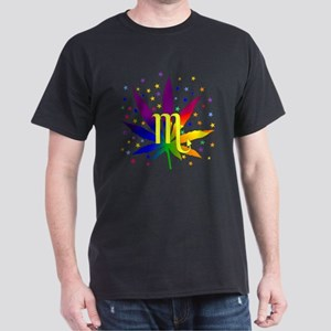 Rainbow Marijuana Scorpio Dark T-Shirt