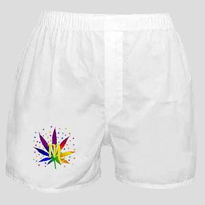 Rainbow Marijuana Scorpio Boxer Shorts