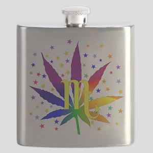 Rainbow Marijuana Scorpio Flask