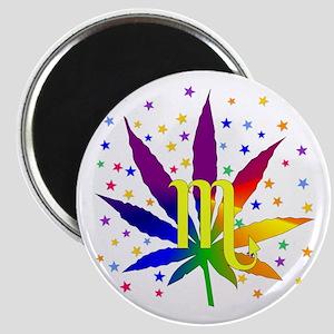 Rainbow Marijuana Scorpio Magnet