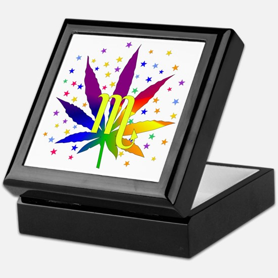 Rainbow Marijuana Scorpio Keepsake Box