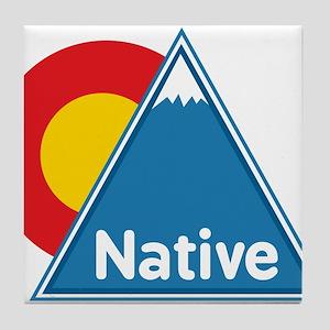 Colorado Native Tile Coaster