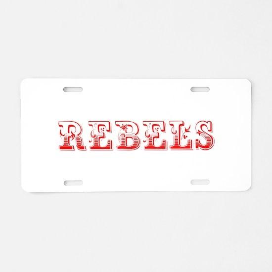 Rebels-Max red 400 Aluminum License Plate