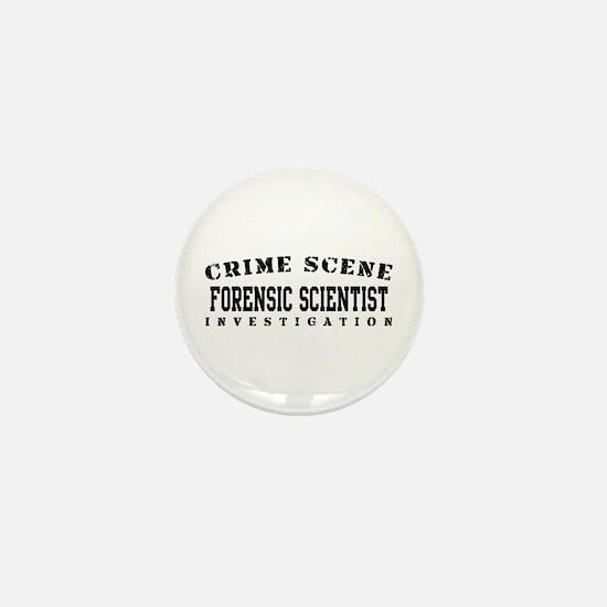 Forensic Scientist (Blk) - Crime Scene Mini Button