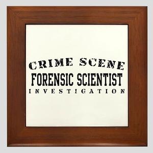 Forensic Scientist (Blk) - Crime Scene Framed Tile