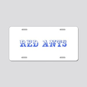 Red Ants-Max blue 400 Aluminum License Plate