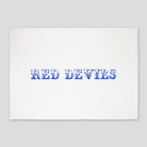 Red Devils-Max blue 400 5'x7'Area Rug