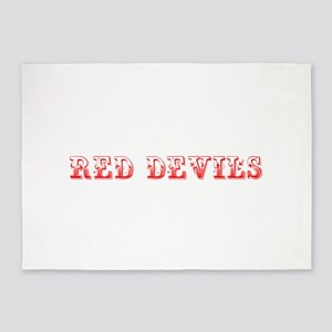 Red Devils-Max red 400 5'x7'Area Rug