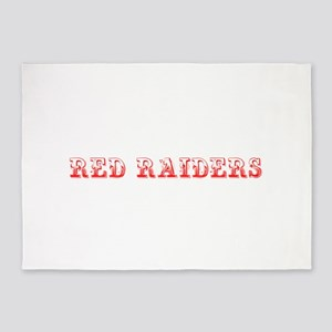 Red Raiders-Max red 400 5'x7'Area Rug
