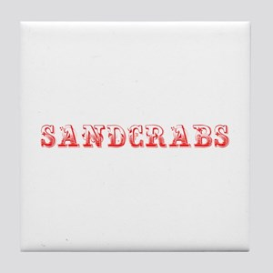 Sandcrabs-Max red 400 Tile Coaster