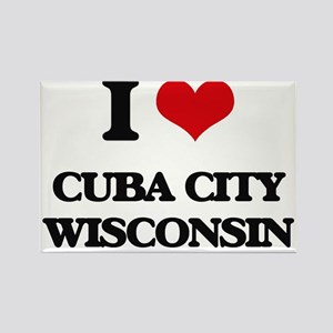 I love Cuba City Wisconsin Magnets