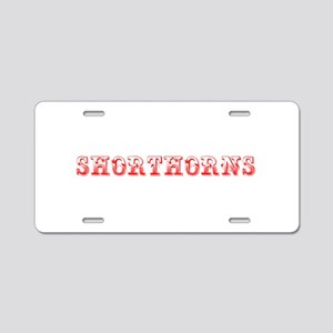 Shorthorns-Max red 400 Aluminum License Plate